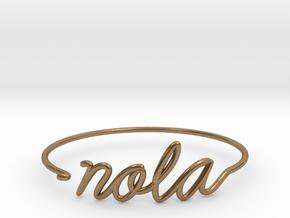 NOLA Wire Bracelet (New Orleans) in Natural Brass