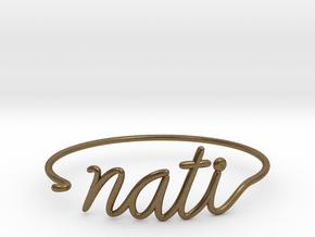 NATI Wire Bracelet (Cincinnati) in Natural Bronze