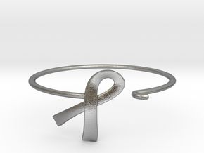 Ribbon Wire Bracelet in Natural Silver