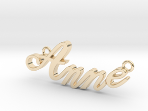 Anne Name Plate in 14K Gold