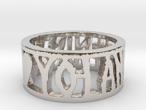 #NINJA <3 YO-LANDI Ring Size 4.5 in Platinum