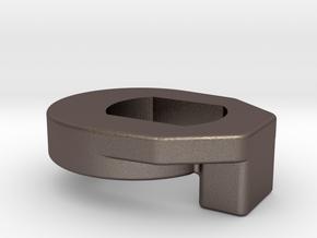 Anti Rotation Washer - MAC hub motor on Salsa Enab in Polished Bronzed Silver Steel
