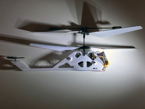 R/C Drone   X2 Helicopter   a Syma S107 Mod in White Natural Versatile Plastic
