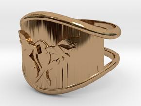 L.O.V.E. Ring size 9 in Polished Brass