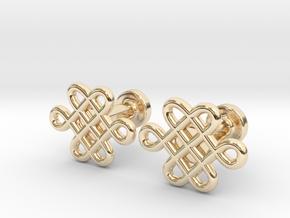 Celtic Cufflinks in 14K Yellow Gold