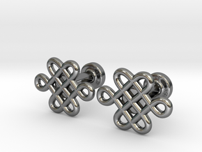 Celtic Cufflinks in Fine Detail Polished Silver