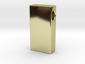 Gold Brick Pendant (solid) in 18k Gold Plated Brass