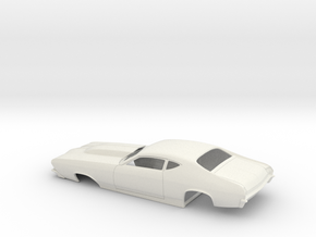 1/16 69 Chevelle Pro Mod One Piece Body in White Strong & Flexible