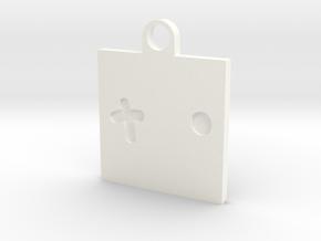 Crossight Eyes Key Ring Charm in White Processed Versatile Plastic
