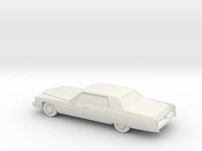 1/87 1974 Cadillac Sedan De Ville in White Natural Versatile Plastic