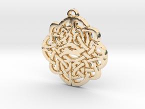 Celtic Knot Symbol 1 Necklace Pendant in 14K Gold