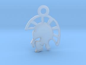 Warrior Pendant in Smoothest Fine Detail Plastic