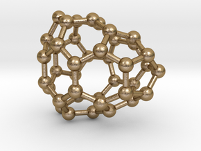 0113 Fullerene C40-7 cs in Polished Gold Steel