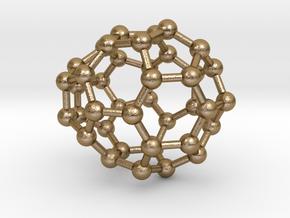 0119 Fullerene C40-13 cs in Polished Gold Steel