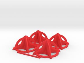 Star Base in Red Processed Versatile Plastic