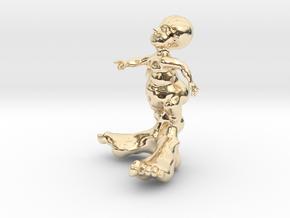 BIG FOOT KID 3'' in 14K Yellow Gold