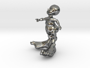 BIG FOOT KID 3'' in Fine Detail Polished Silver