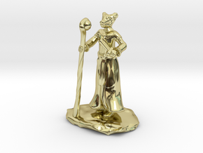 D&D Dragonborn Sorcerer Mini in 18k Gold