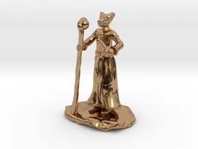 D&D Dragonborn Sorcerer Mini in Polished Brass