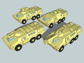 3mm SADF Ratel AFV Force (48 pcs) in Smooth Fine Detail Plastic