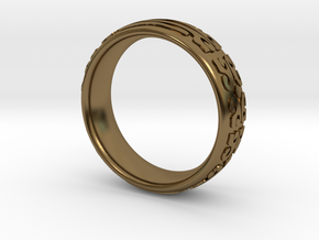 Knight Of The Ring in Polished Bronze