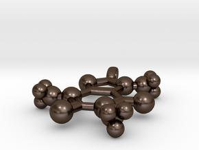Caffeine Pendant in Polished Bronze Steel