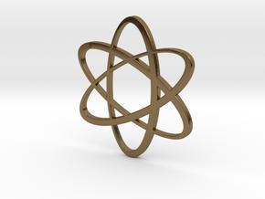 Atom Pendant in Polished Bronze