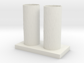 Vase 18 in White Natural Versatile Plastic