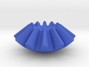 Gear Sphere in Blue Processed Versatile Plastic