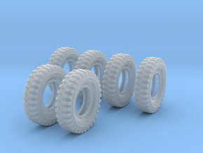 1-16 6xMilitary Tire 1200x20 in Smooth Fine Detail Plastic