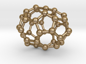 0126 Fullerene C40-20 c3v in Polished Gold Steel