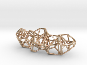 Voronoi Framework Pendent in 14k Rose Gold Plated Brass