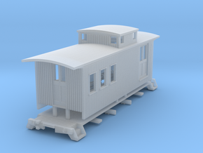 HOn3 25 foot Caboose A in Smoothest Fine Detail Plastic