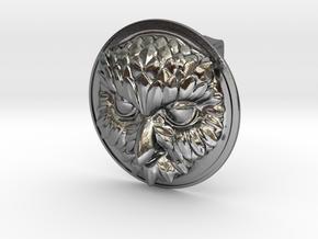 """""""Owliver"""" Belt Buckle in Polished Silver"""