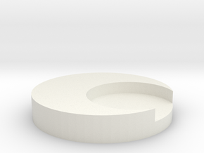 Small button without backing for Moon Knight costu in White Natural Versatile Plastic