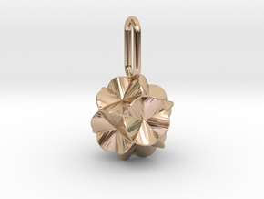 Pendant-c-6-5-10-45 in 14k Rose Gold Plated Brass