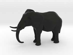 Elephant 4 inch height full color in Black Natural Versatile Plastic