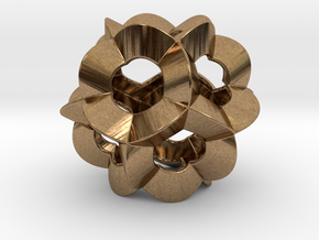 Pendant-c-6-5-30-p1o in Natural Brass