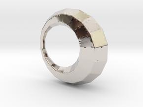0104 Antisymmetric Torus (p=1; u=18; v=6) 5cm #011 in Rhodium Plated Brass