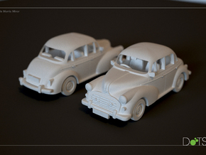 1/48 Scale Morris Minor in White Natural Versatile Plastic