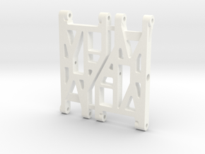 NIX91-Race Front Arms SLS in White Processed Versatile Plastic