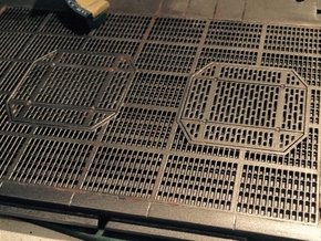 YT1300 DEAGO HALL GRILLE W PITS WELD in Smooth Fine Detail Plastic
