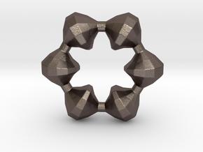 0105 Antisymmetric Torus (p=6;u=36;v=12) 10cm #012 in Polished Bronzed Silver Steel