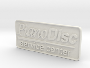 PianoDisc Service Center Logo Plaatje in White Strong & Flexible