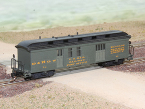 Nn3 4 car Passenger Train w/RPO in Smooth Fine Detail Plastic