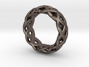 Gridring in Polished Bronzed Silver Steel