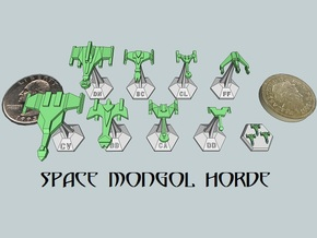 MicroFleet Space Mongol Sampler (9pcs) in White Strong & Flexible