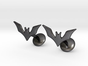 Batman Beyond Cufflinks in Polished and Bronzed Black Steel