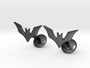 Batman Beyond Cufflinks in Polished and Bronzed Black Steel