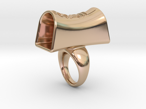 Message of love 30 in 14k Rose Gold Plated Brass